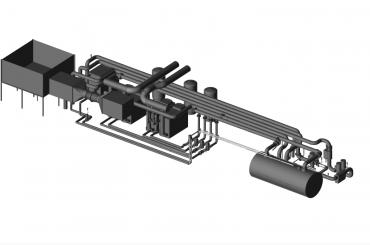 3D BIM Revit Model of plant room