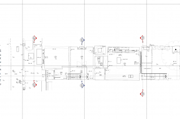 Accurate as-built 2d floor plan
