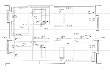 As-built 2D AutoCAD drawing
